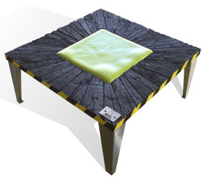 Table basse radioactive.
